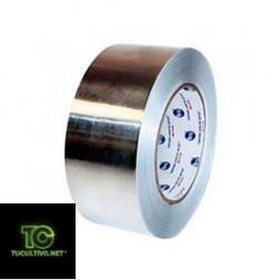 Cinta adhesiva aluminio brillo metal