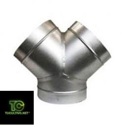 Union Y aluminio ventilación cultivo