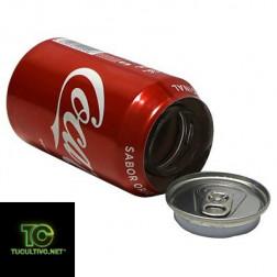 Bote de Cocacola camuflaje en español